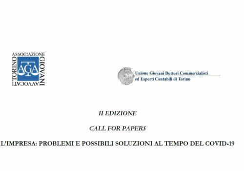 CALL FOR PAPERS – L'IMPRESA: PROBLEMI E POSSIBILI SOLUZIONI AL TEMPO DEL COVID-19